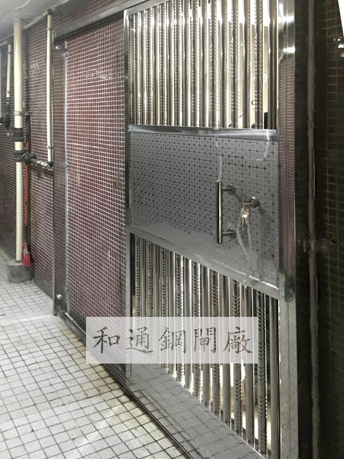 住宅單趟鋼閘